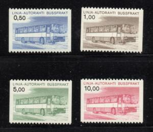 Finland Sc Q14-17 1981 Parcel Post stamp set mint NH