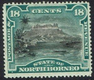 NORTH BORNEO 1894 PICTORIAL 18C PERF 14.5-15