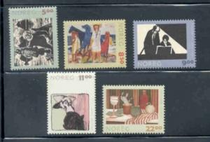 Norway Sc 1355-9 2003 Graphic Arts  stamp set  mint NH