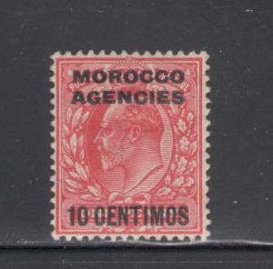Great Britain Offices Morocco 1907 Surcharge 10c Scott # 35 MH