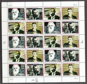 UNITED STATES 3064a MNH PANE OF 20 2019 SCOTT SPECIALIZED CATALOGUE VALUE $13.00
