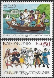 1987 United Nations Geneva People in Occupations SC# 158-159  Mint