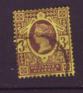 J19744 Jlstamps 1887-92 great britain used #115 queen