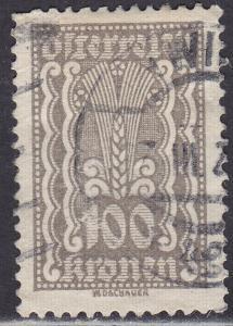Austria 268 USED 1922 Symbols of Agriculture 100k