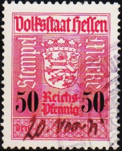 Germany.. Date? 50pf Revenue? Fine Used