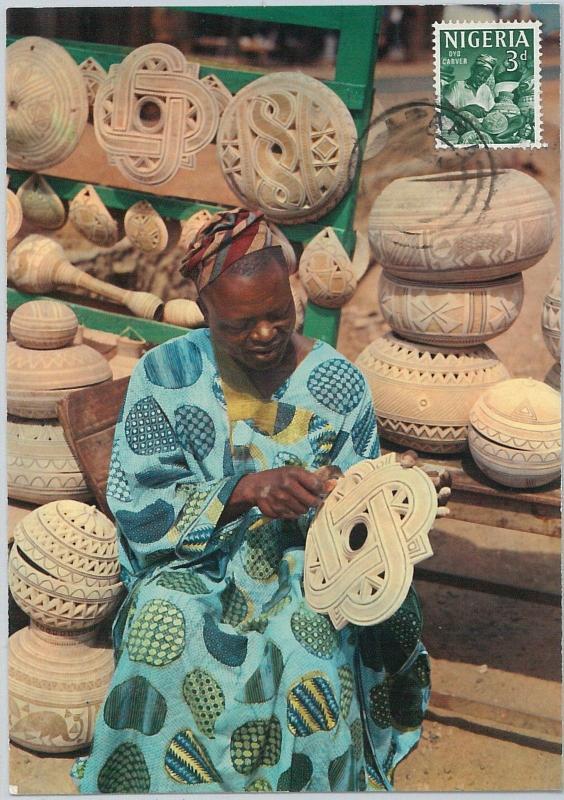 59102  -  NIGERIA - POSTAL HISTORY: MAXIMUM CARD 1967  -  ARTS & CRAFTS