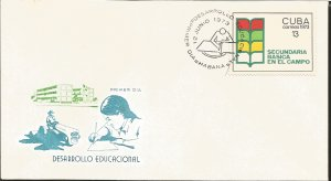 J) 1973 CARIBE, BASIC SECONDARY IN THE FIELD, EDUCATIONAL DEVELOPMENT, FDC