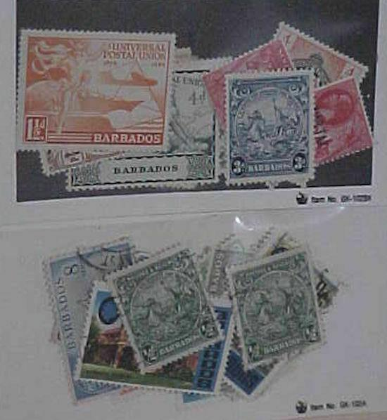BARBADOS 12 STAMPS MINT MOSTLY LIGHT HINGED  & 17 USED STAMPS