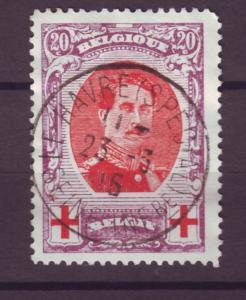 J21292 Jlstamps 1915 belgium used #b33b perf 12  king