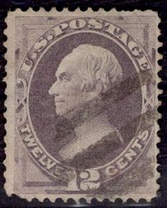US Stamp #151 12c Dull Violet Clay USED SCV $200