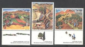 Israel #815-817 MNH with Tabs