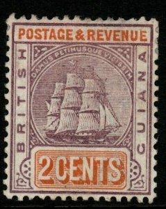 BRITISH GUIANA SG194 1889 2c DULL PURPLE & ORANGE MTD MINT