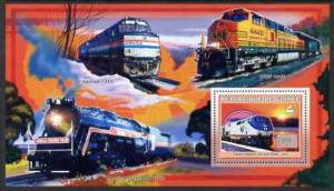 Guinea MNH S/S American Trains #1 2006