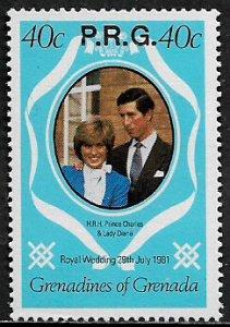 Grenada, Grenadines #O11 MNH Stamp - Royal Wedding Official