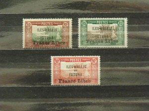 6372   Wallis Futuna   MH # 114, 115, 116                      CV$ 12.00