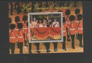 EQUATORIAL GUINEA 1976  QUEEN ISABELLA    MINT  VF NH  O.G  S/S   (EQ36  )