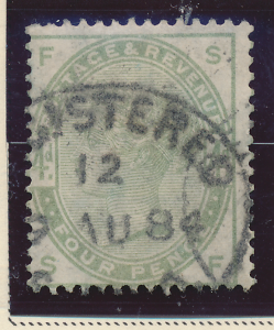 Great Britain Stamp Scott #103, Used - Free U.S. Shipping, Free Worldwide Shi...