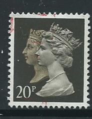 GB QE  II  SG 1469 Harrison p[hos[porised paper  15 x 14 Used  from booklet