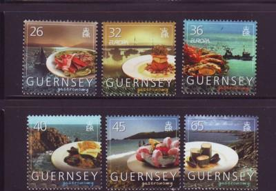 Guernsey Sc 868-73 2005 Europa Gastronomy stamp set mint NH