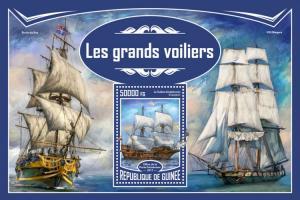 GUINEA - 2017 - Tall Ships - Perf Souv Sheet - MNH