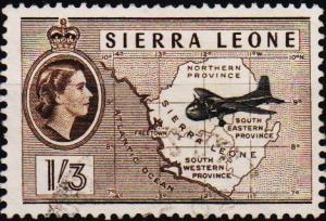 Sierra Leone. 1956 1s3d S.G.218 Fine Used