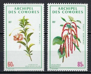 COMORO ISLANDS #C37-38 MINT, VF, NH - PRICED AT 1/2 CATALOG!