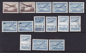Finland a selection of Air stamps mint & used