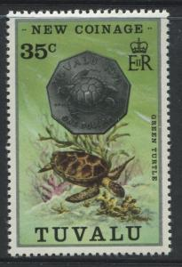 Tuvalu - Scott 22 - New Coinage -1976 - MVLH - Single 35c Stamp