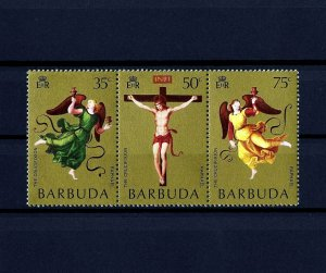 BARBUDA - 1971 - EASTER - MOND CRUCIFIXION - ANGELS +- MINT - MNH - SET OF 3!