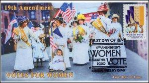 20-151, 2020, SC 5523, Women Vote, Pictorial Postmark, FDC, Seneca Falls NY,