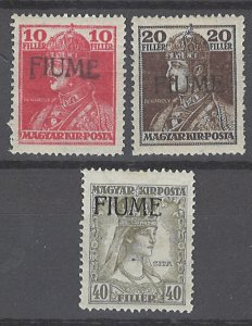 COLLECTION LOT # 2022 FIUME #21-3 MNH 1918 CV= $82