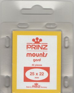 PRINZ 25X22 (40) BLACK MOUNTS RETAIL PRICE $3.99