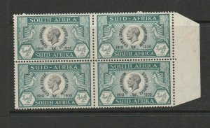 South Africa 1935 Silver Jubilee 1/2d Correct pairs with spots above Head & Neck