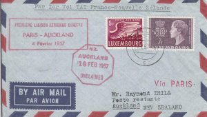 1957, 1st Flt., Luxembourg: Paris, France, See Remark (32102)