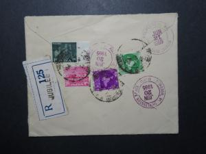 India 1965 Jubilee Registered Cover to USA - Z11650