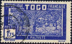 TOGO - 1938 -Yv.160 / Mi.98 1fr75 bleu-violet & outremer - Oblitéré TB