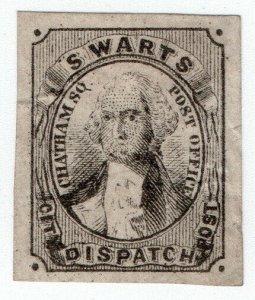 (I.B) US Local Post : Swart's City Dispatch