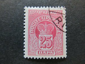 A5P23F74 Montenegro Postage Due Stamp 25pa used