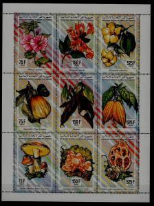 Comoro 811 MNH m/s Flowers/Vegetables/Mushrooms SCV16