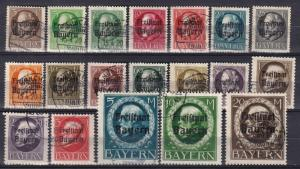 Bavaria #193-211 F-VF Used CV $205.25 (A18314)