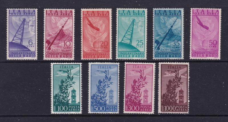 Italy x 2 mint Air sets from 1947-48
