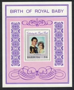 Barbuda Birth of Prince William of Wales 1st issue MS SG#MS616