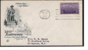 US FDC 970  Ft. Kearney Cachet, Cat. $2.00  ....   7503555