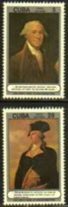 CUBA Sc# 2556-2557 GEORGE WASHINGTON President USA CPL set of 2  1982 no gum MNG