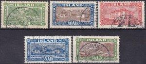 Iceland #144-8  F-VF  Used CV $20.45 (Z6459)