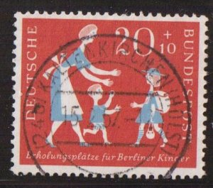 Germany  #B355  used  1957  vacations for children  20pf
