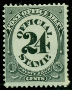 U.S. #O54, 24¢ Post Office Official, og, hinged, scarcer, Scott $225.00