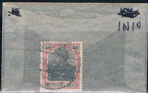 Lithuania 1N10 Used German Stamp overprinted 1916 (L0051)