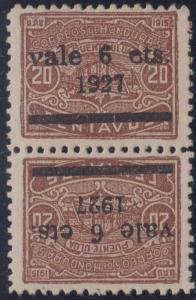 HONDURAS 1927 Sc 240a Yvert 193a HORIZONTAL TETE-BECHE PAIR HINGED MINT