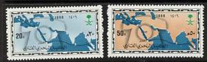 Saudi Arabia 978-9 MNH Map, Telephone